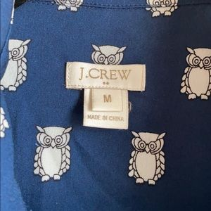 J. Crew Tops - JCrew Owl Print Shirt